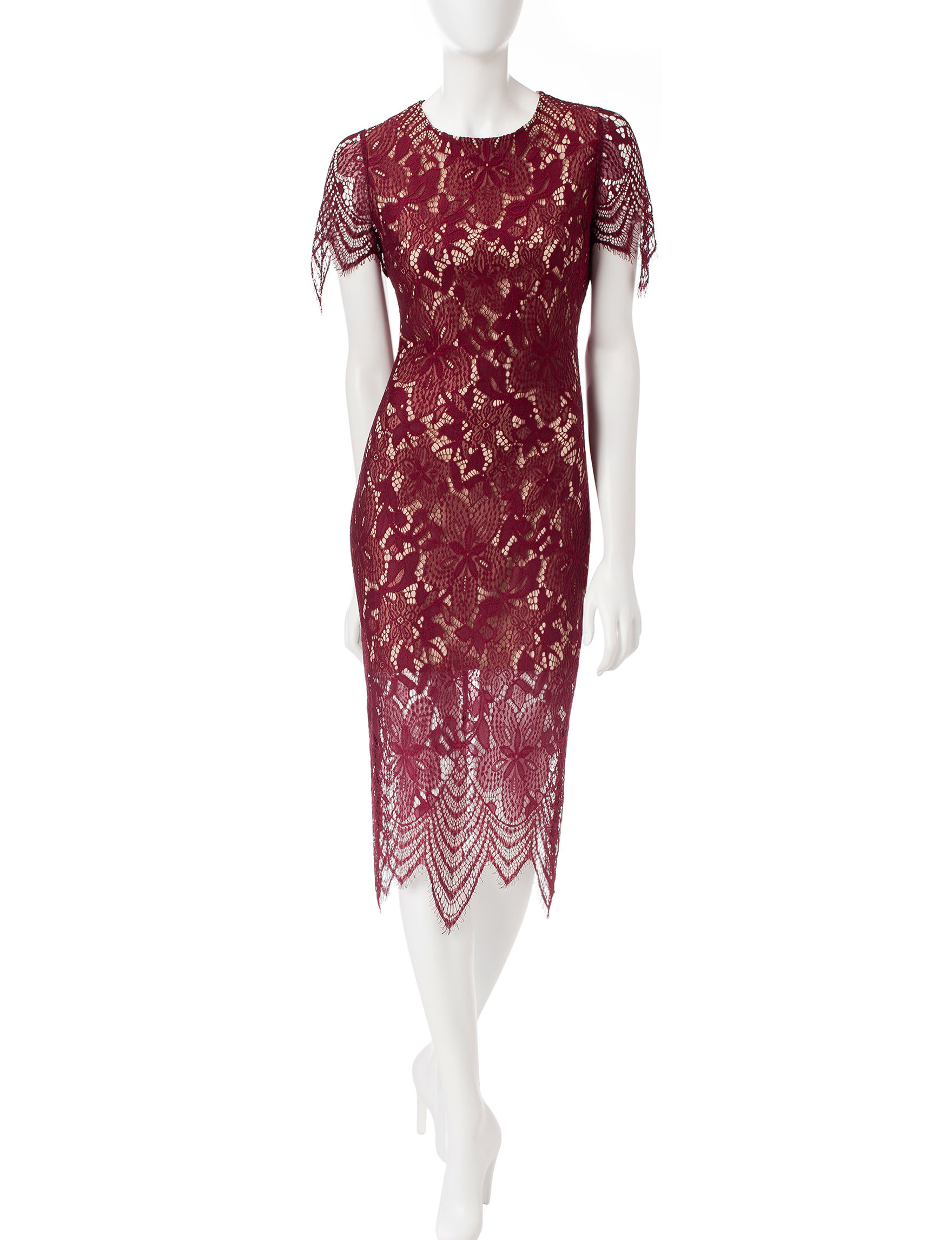Fire Red Everyday & Casual Sheath Dresses