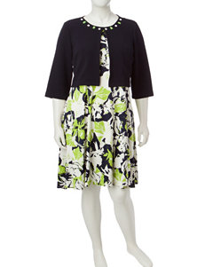 Perceptions Green Everyday & Casual Jacket Dresses