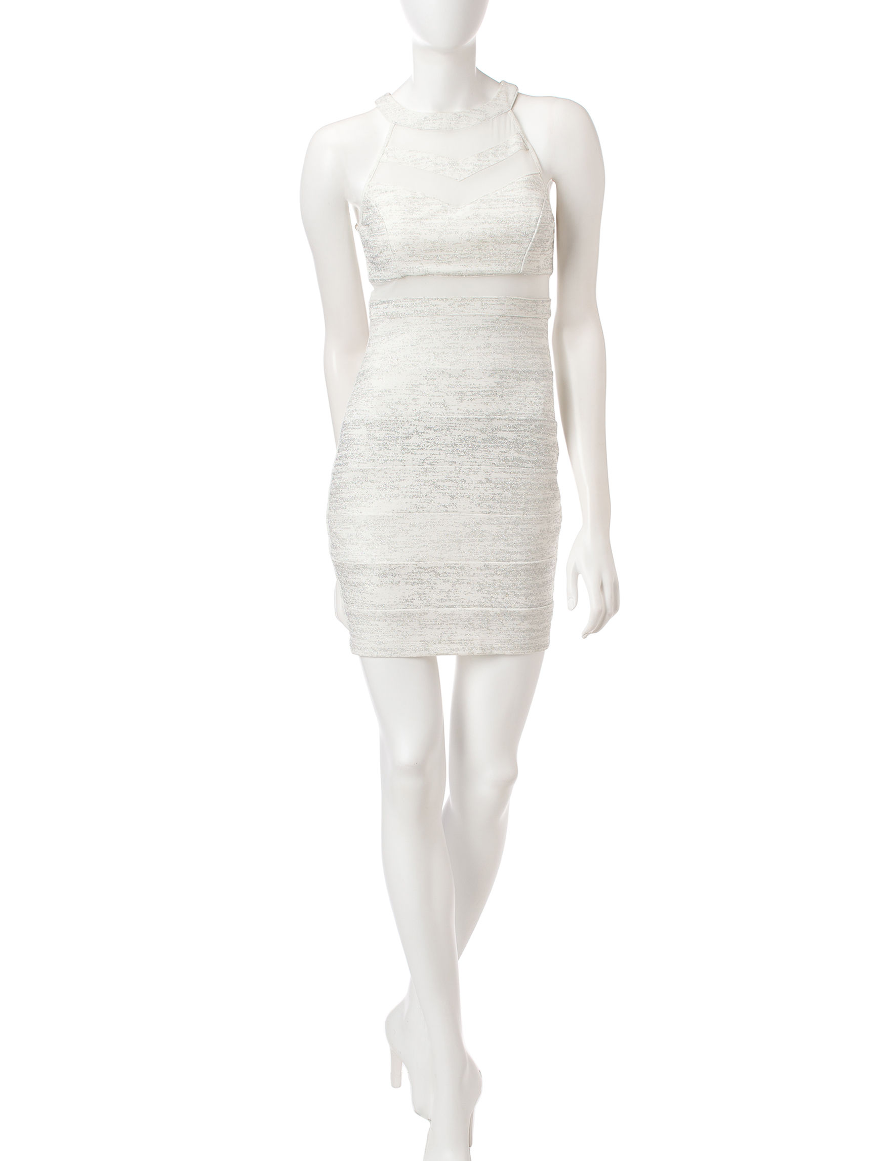Emerald Sundae White Cocktail & Party Everyday & Casual Sheath Dresses