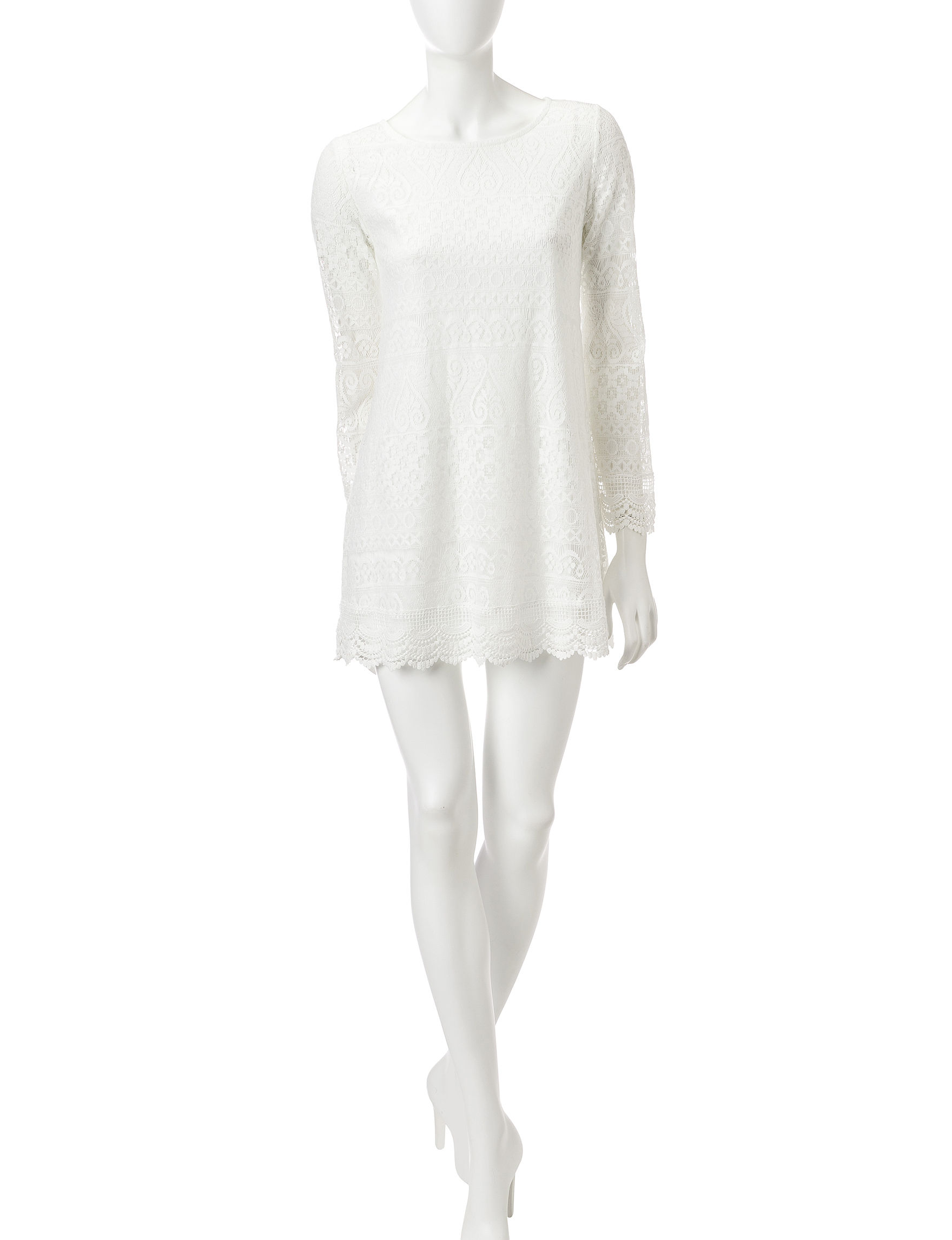 Wishful Park White Everyday & Casual Shift Dresses