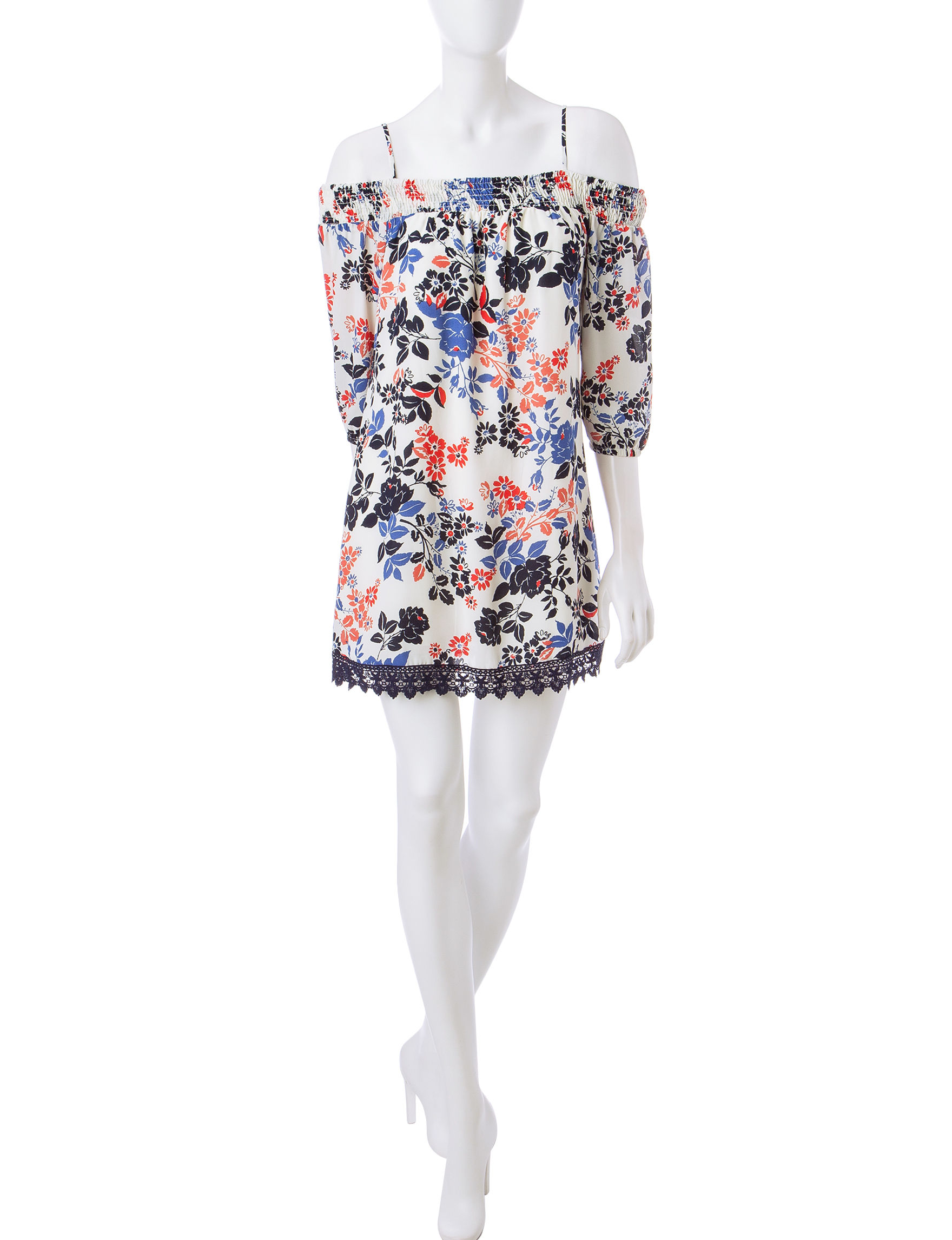 Trixxi White Everyday & Casual Fit & Flare Dresses
