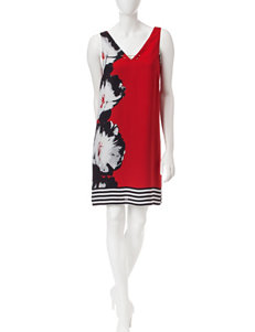 S.L. Fashions Red Everyday & Casual Shift Dresses