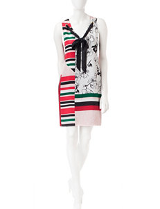 S.L. Fashions Grommet Shift Dress