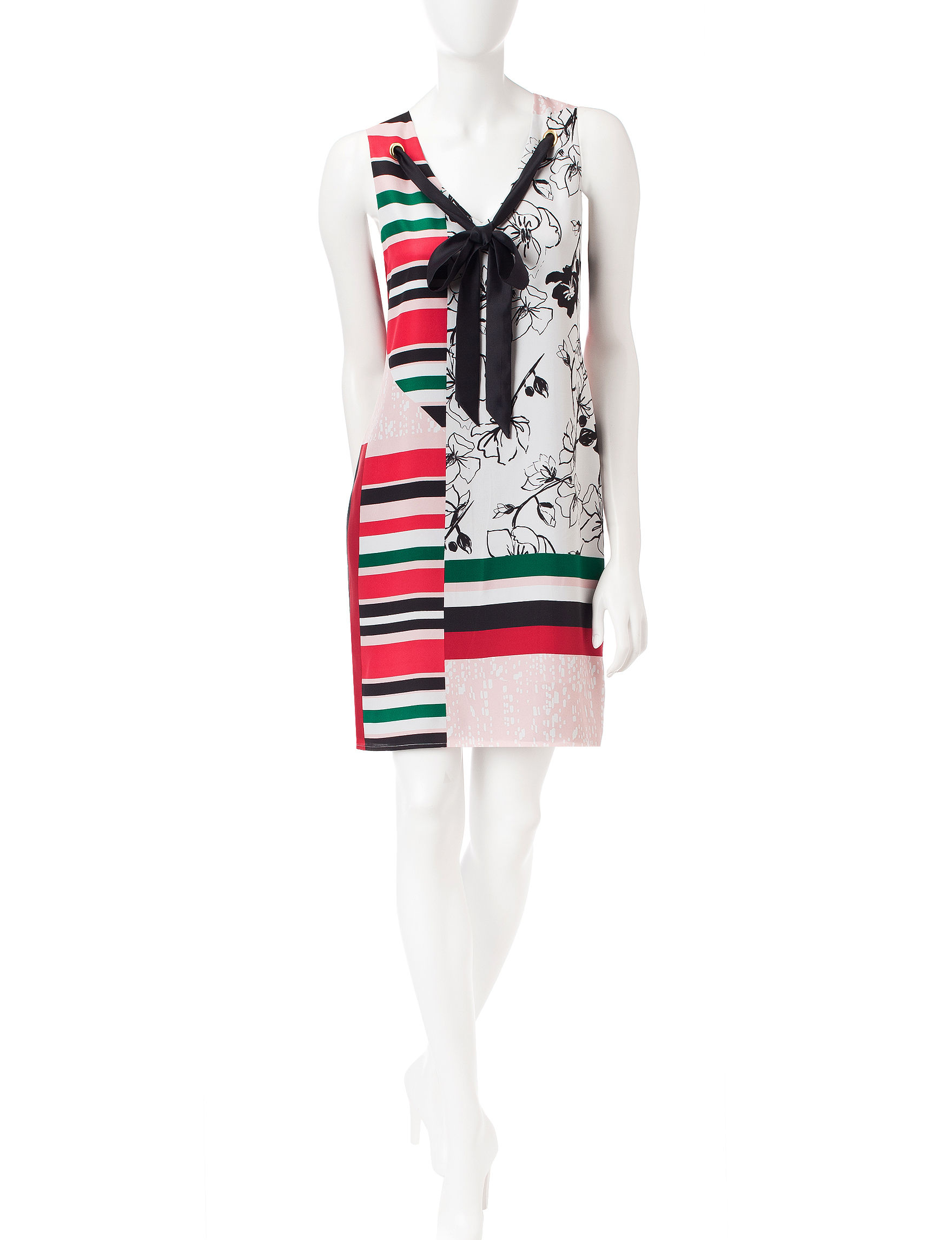 S.L. Fashions Pink Everyday & Casual Sheath Dresses Shift Dresses