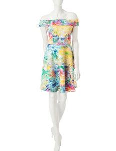 Spense Off-the-Shoulder A-Line Dress