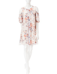 Perceptions Ivory Everyday & Casual Shift Dresses