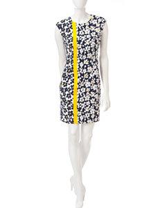 London Times Blue Everyday & Casual Sheath Dresses