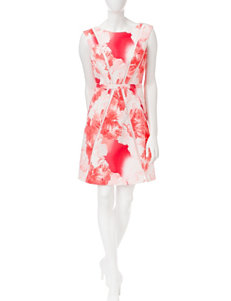 Sandra Darren Coral Everyday & Casual A-line Dresses
