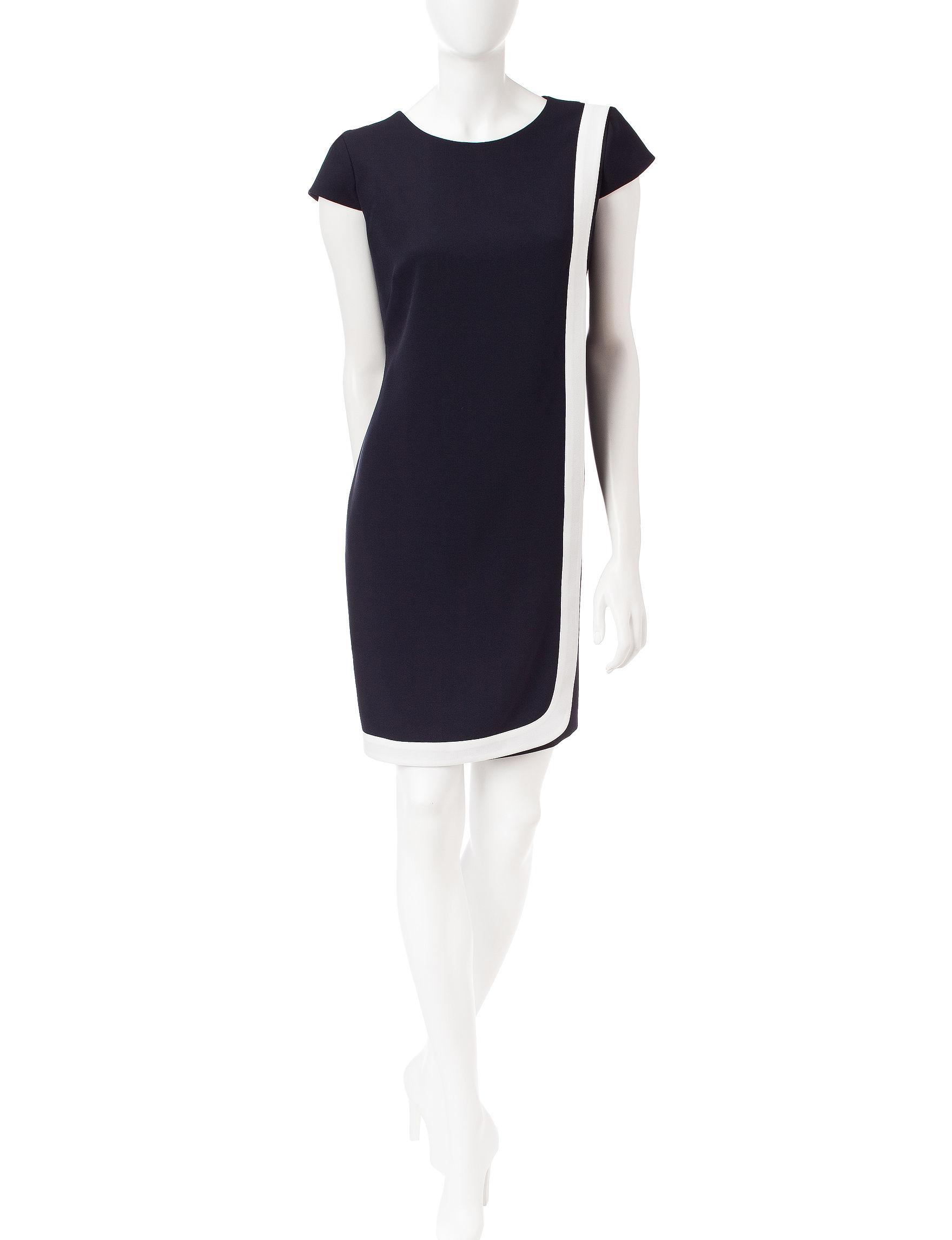 Sandra Darren Navy Everyday & Casual A-line Dresses