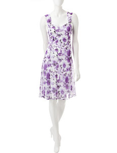 Connected Purple Everyday & Casual Jacket Dresses