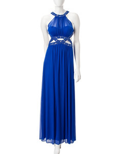 Morgan & Co. Beaded Cut Out Gown