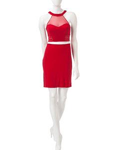 Morgan & Co. 2-pc. Mesh Top & Skirt Set