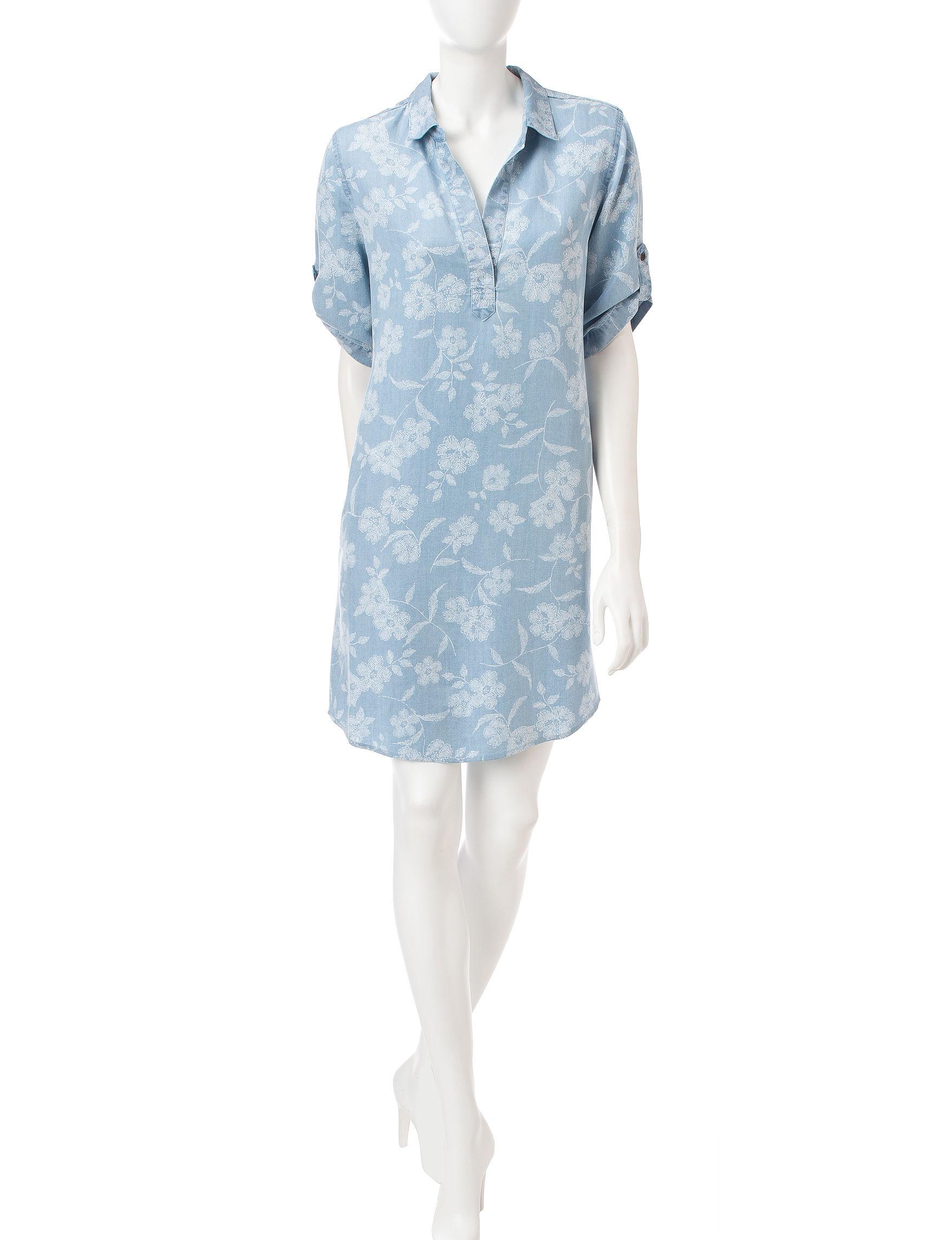 Ronni Nicole Blue Everyday & Casual Shirt Dresses