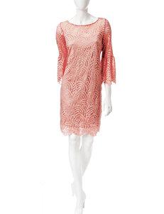 Ronni Nicole Orange Everyday & Casual Shift Dresses
