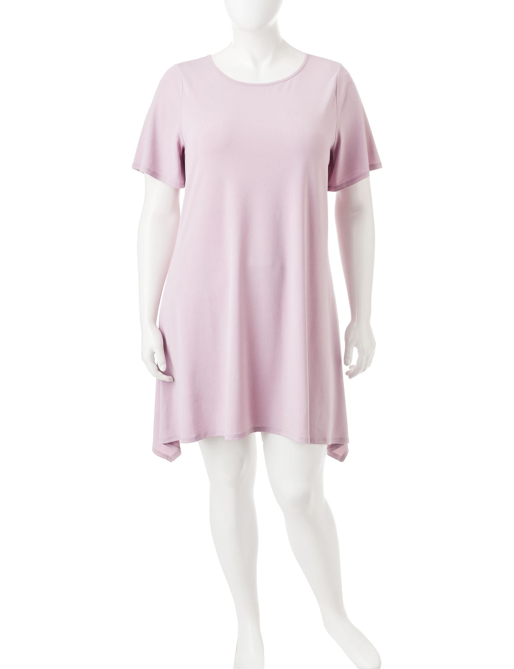 Living Doll Purple Everyday & Casual Shirt Dresses