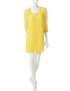 Madison Leigh Yellow Everyday & Casual Shift Dresses