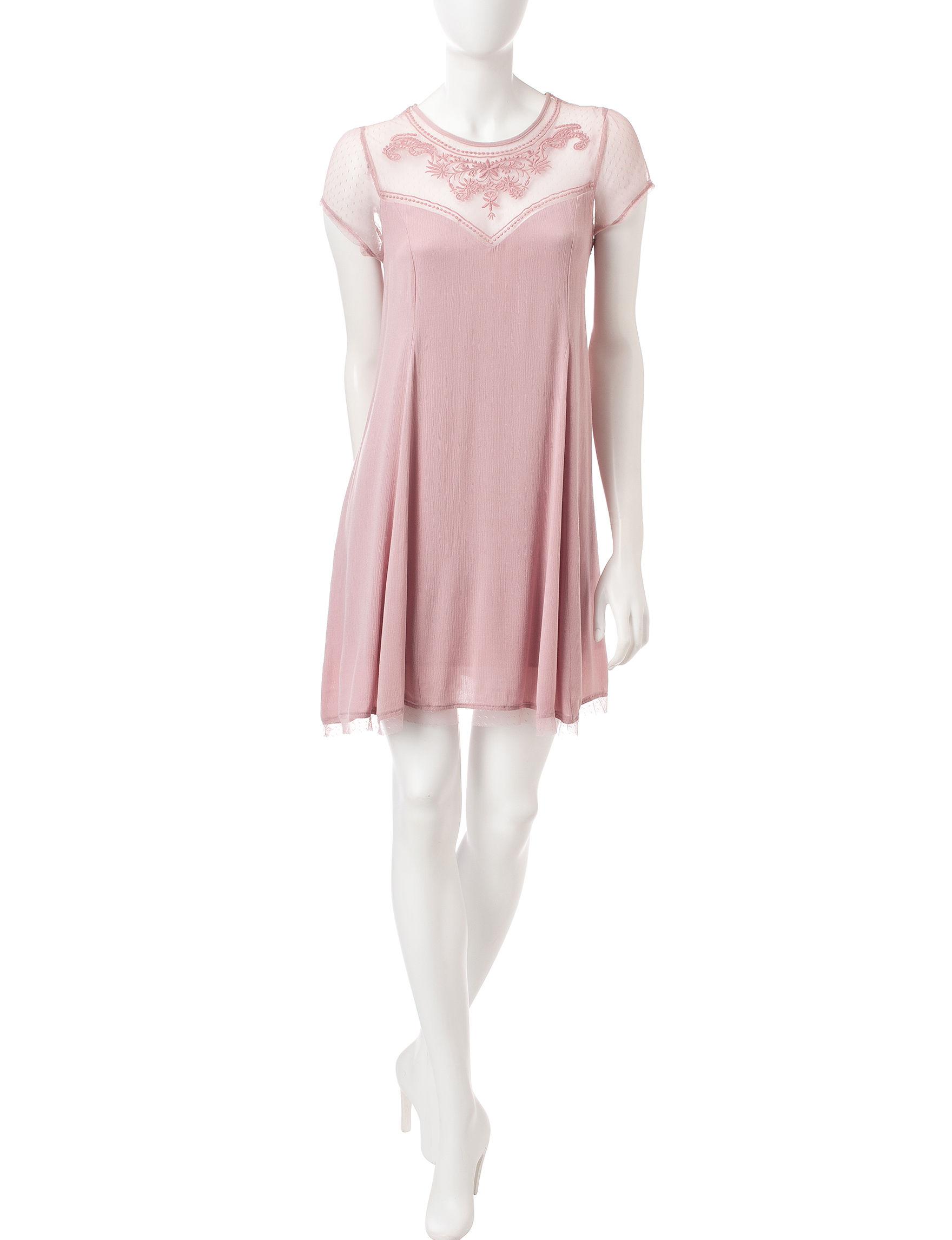 Trixxi Blush Everyday & Casual Shift Dresses