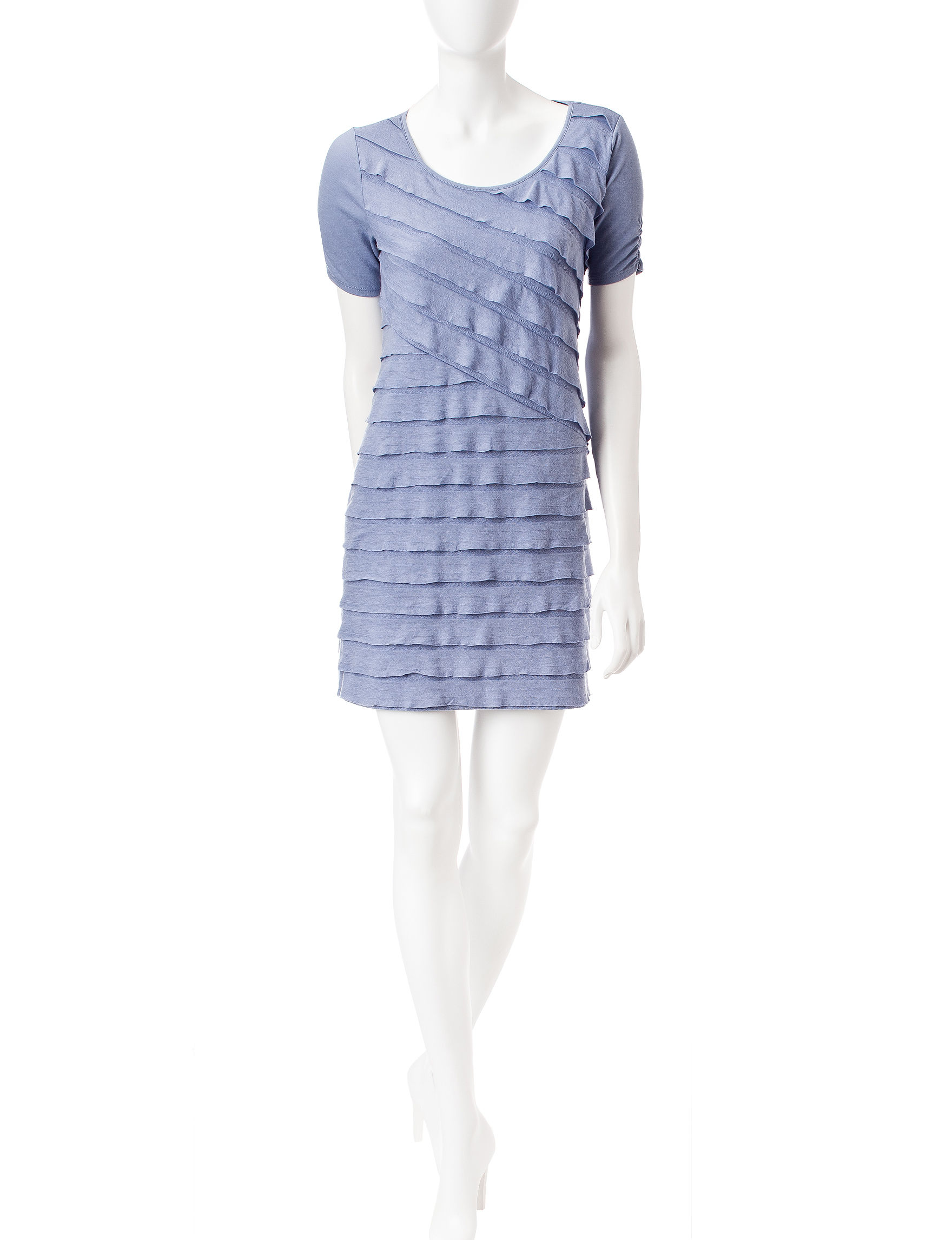 A. Byer Purple Everyday & Casual Shift Dresses