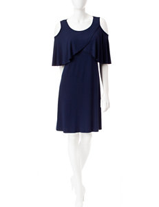 A. Byer Cold Shoulder Swing Dress