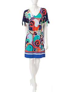 Ronni Nicole Blue Everyday & Casual Shift Dresses