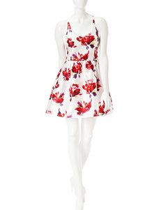 Bailey Blue White / Red Everyday & Casual Fit & Flare Dresses
