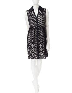 Sangria Black Everyday & Casual Shirt Dresses