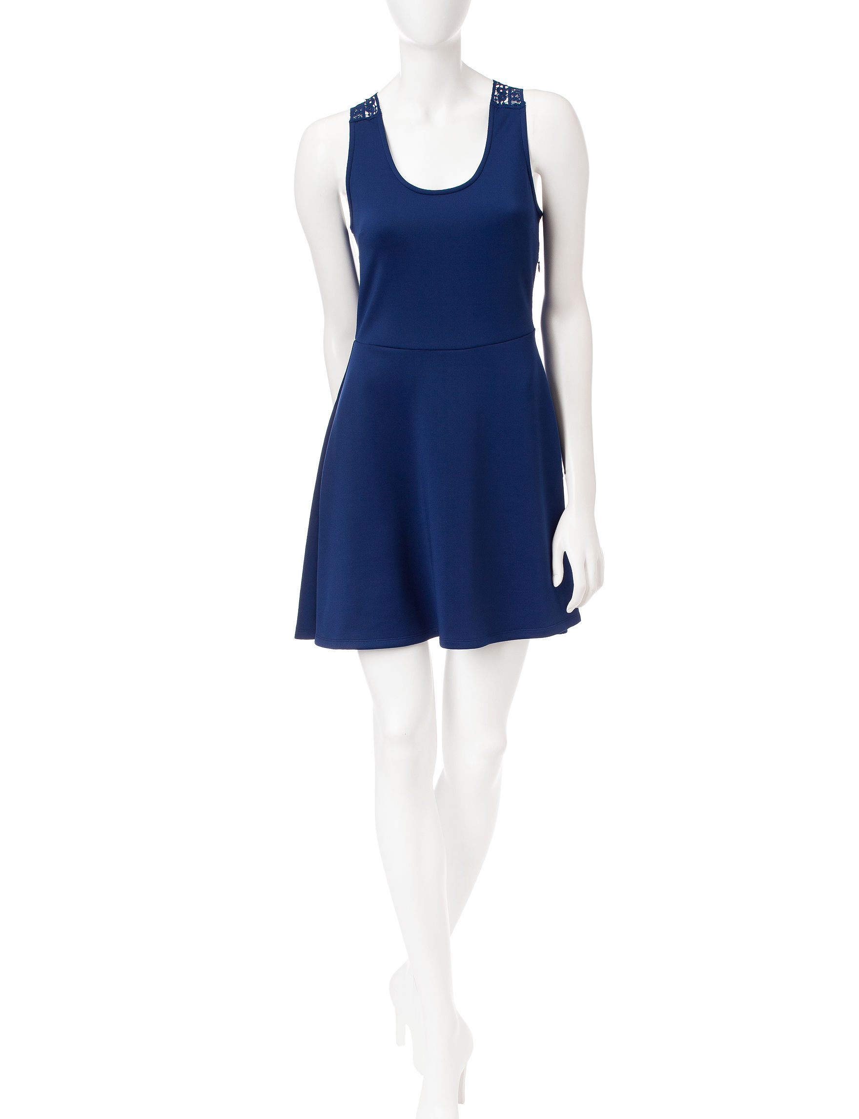 Wishful Park Navy Everyday & Casual Fit & Flare Dresses