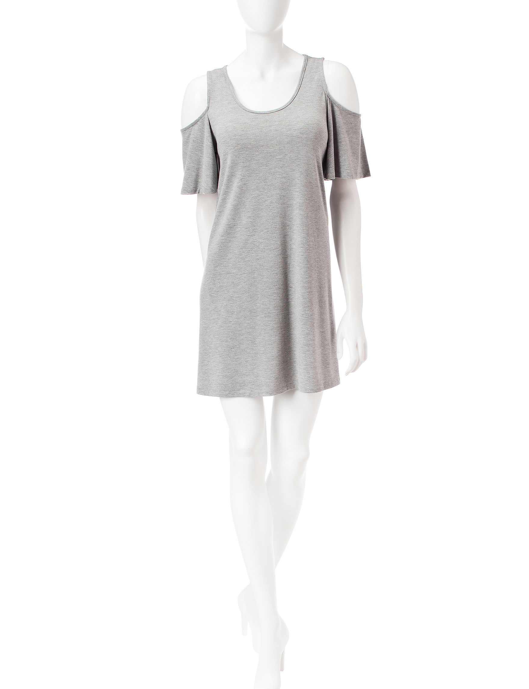 Wishful Park Heather Grey Everyday & Casual Shirt Dresses