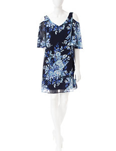 Connected Navy Everyday & Casual Shift Dresses