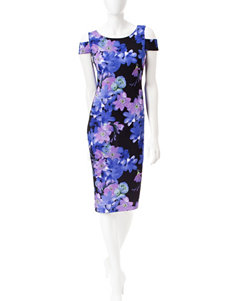 Connected Purple Everyday & Casual Sheath Dresses