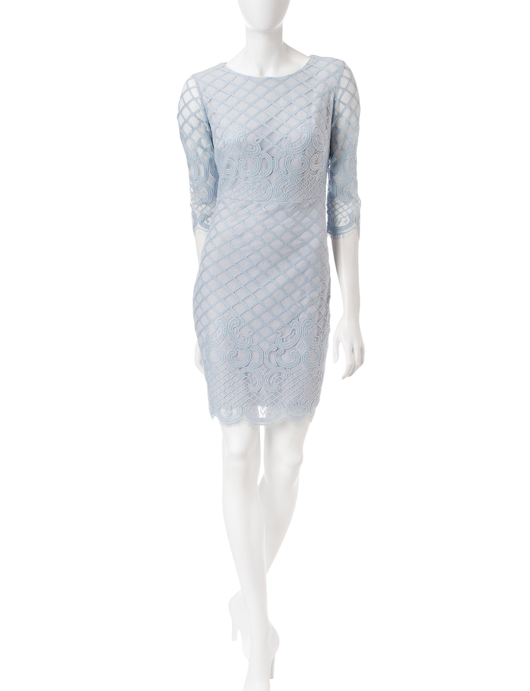 Sangria Blue Cocktail & Party Evening & Formal Sheath Dresses