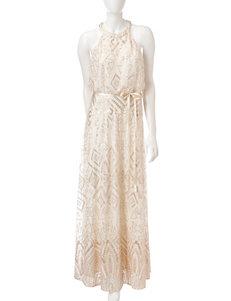 Marina Sequin Halter Dress
