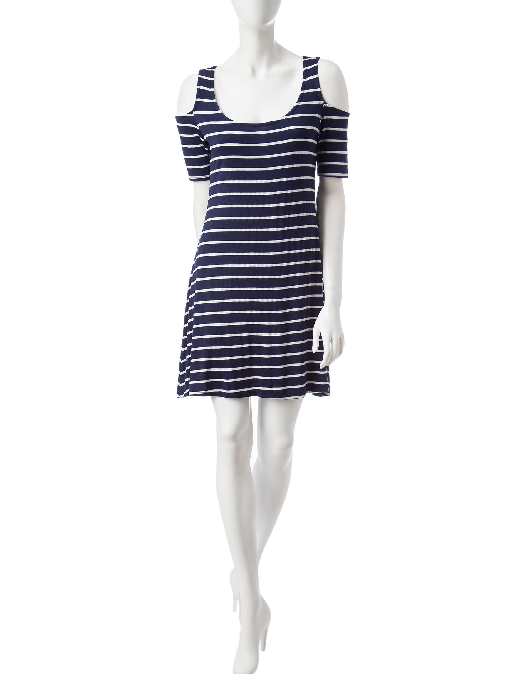 Wishful Park Navy Everyday & Casual Shirt Dresses