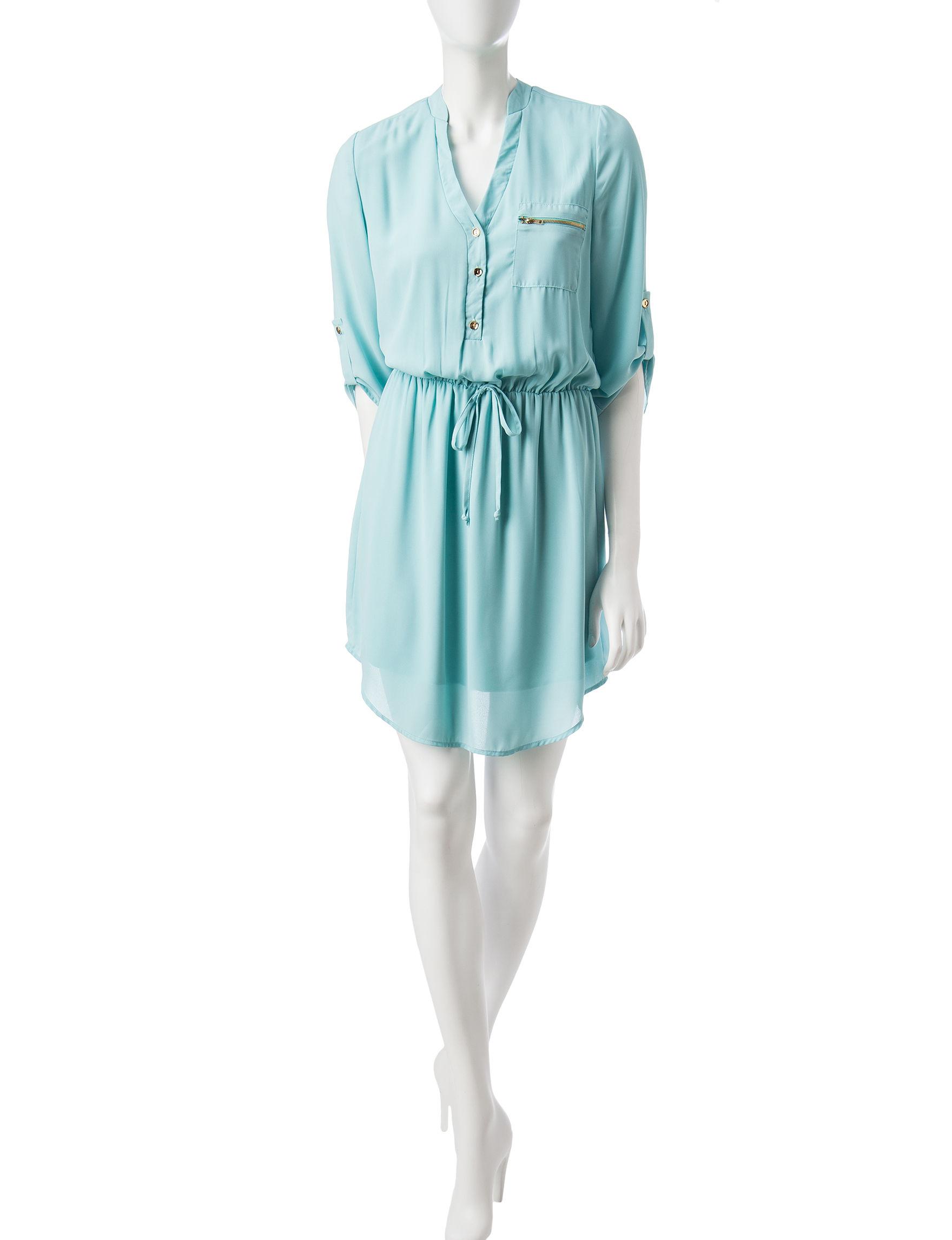 Wishful Park Green Everyday & Casual Shirt Dresses