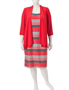 R & M Richards Coral Everyday & Casual Jacket Dresses