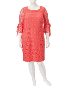 Madison Leigh Plus-size Crochet Shift Dress