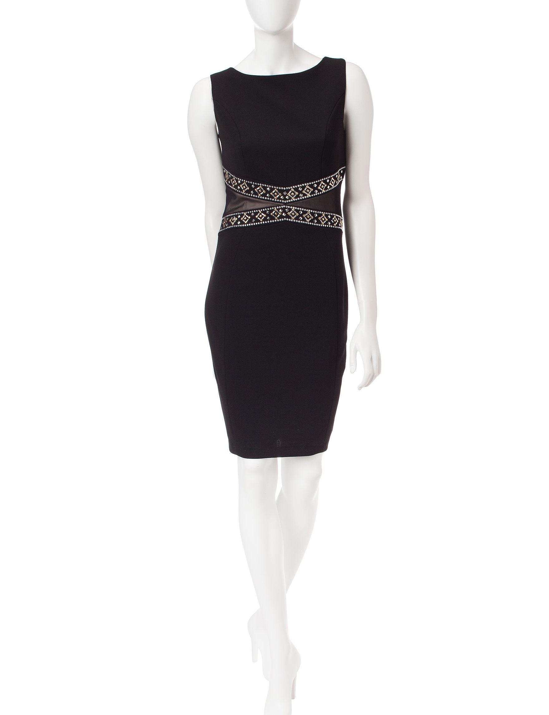 Sangria Black Cocktail & Party Evening & Formal Sheath Dresses