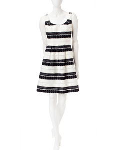Nine West Black Everyday & Casual A-line Dresses Fit & Flare Dresses