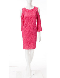 Nine West Pink Everyday & Casual Sheath Dresses