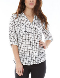A. Byer Button Front Top