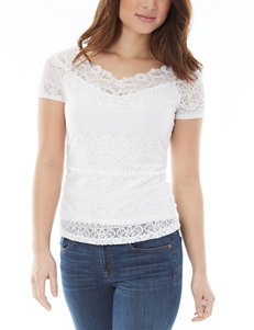 A. Byer Ruched Sides Lace Top