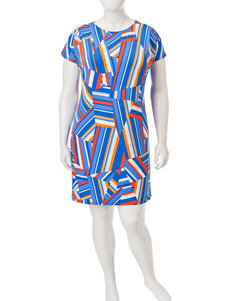 London Times Blue Everyday & Casual Shift Dresses