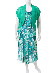 Robbie Bee Green Multi Everyday & Casual Jacket Dresses