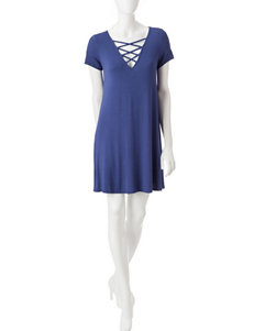 Fire Cobalt Blue Everyday & Casual Shirt Dresses