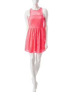 Speechless Pink Everyday & Casual Fit & Flare Dresses