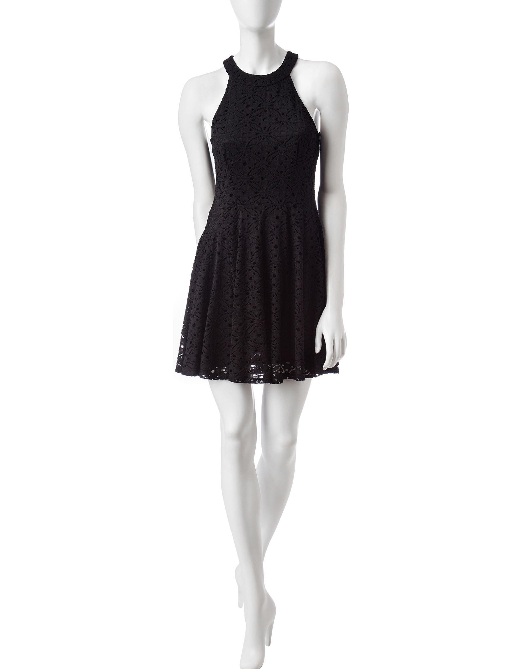 BeBop Black Everyday & Casual Fit & Flare Dresses
