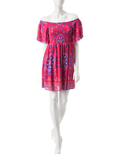My Michelle Pink Everyday & Casual Fit & Flare Dresses