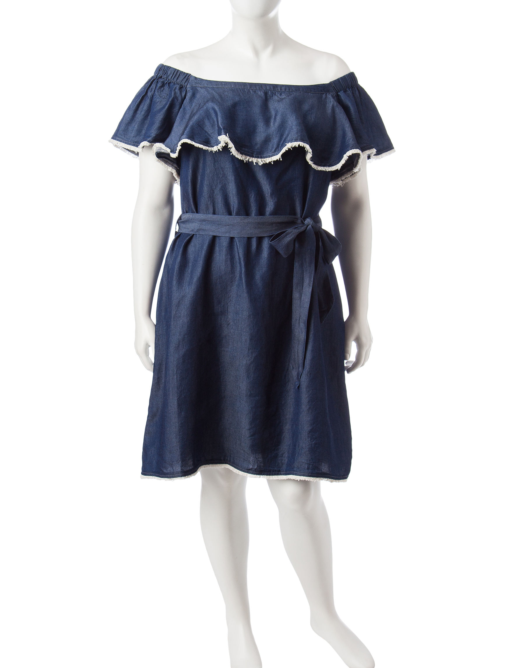 Sangria Indigo Wash Everyday & Casual A-line Dresses