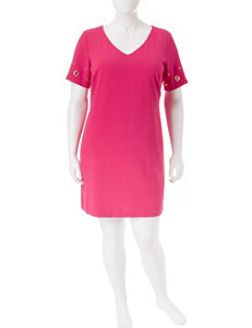 Sangria Fuchsia Everyday & Casual Shift Dresses
