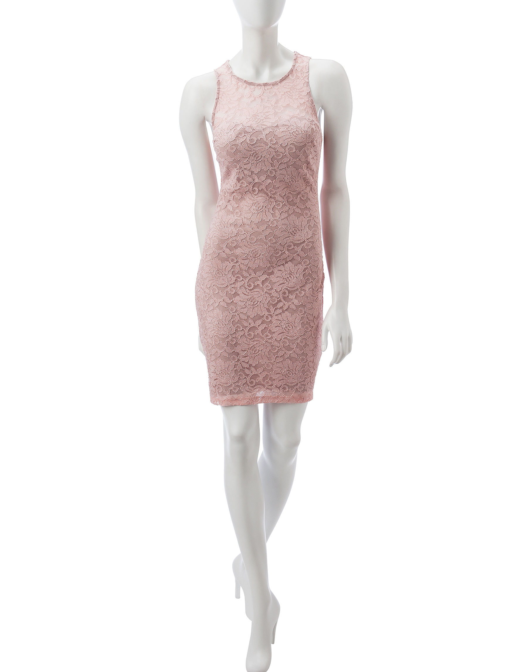 My Michelle Blush Cocktail & Party Sheath Dresses